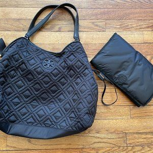 Tory Burch Marion Quilted Slouchy Diaper Bag